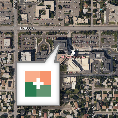 upcc location map icon st marks hospital salt lake city utah